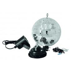 Зеркальный шар Eurolite Mirror Ball Set 30cm with LED Spot